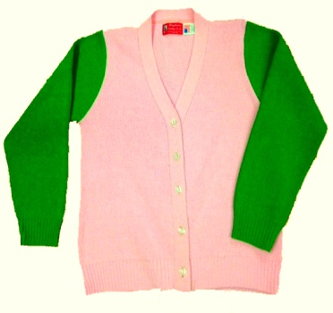 Pink And Green Sweater | Pink Meadow